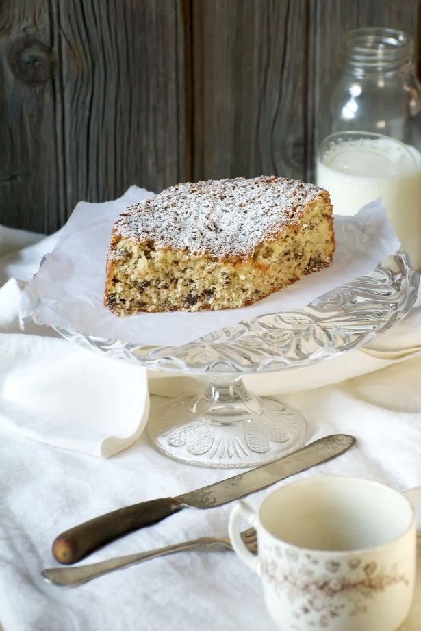 coconut cake with knife