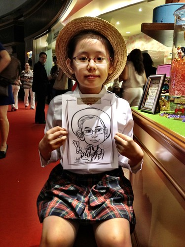 caricature live sketching for Au Chocolat Opening - 2