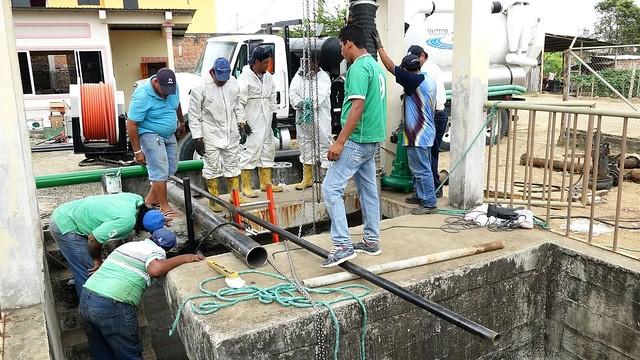 Realizan trabajos de repotenciación en estación de bombeo de Jardines del Inca