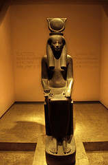 Ägypten 1999 (277) Luxor-Museum: Statue Hathor