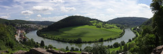Neckarsteinach, Dilsberg and the river Neckar panorama