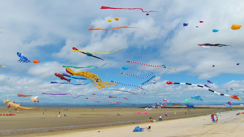 Kites at Morecambe Bay