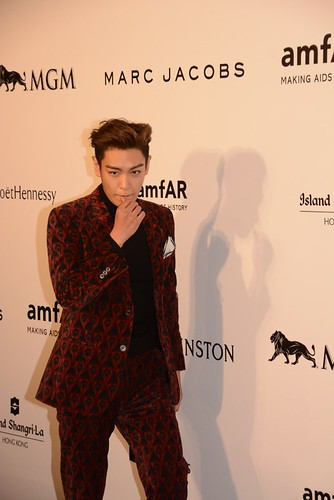 TOP - amfAR Charity Event - Red Carpet - 14mar2015 - Facepop - 02
