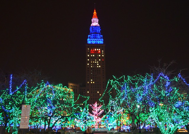 Terminal Tower and Public Square Lights