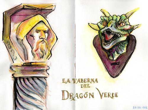Detalles de La taberna del Dragón Verde