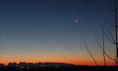 la luna all'alba