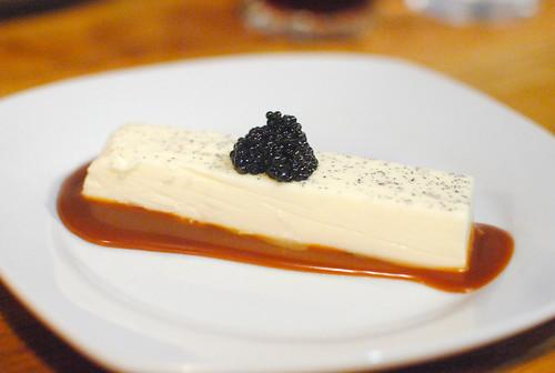 Creme Fraiche Panna Cotta, Caramel, Caviar