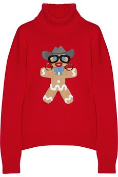 "Moschino ""Cowboy Gingerbread Man"" Sweater"