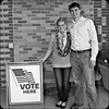 Garrett and Caley Election Day by Love for Kansas