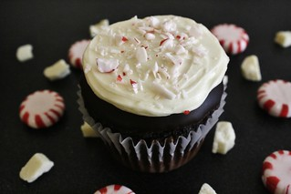 Peppermint Bark Cupcakes (GF)