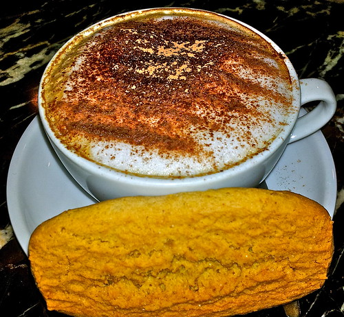 Cappuccino with Cinnamon and a Stem Ginger Biscuit ..Mmmm by Irene.B.