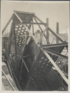 Steel framework for the Sydney Harbour Bridge, 1928