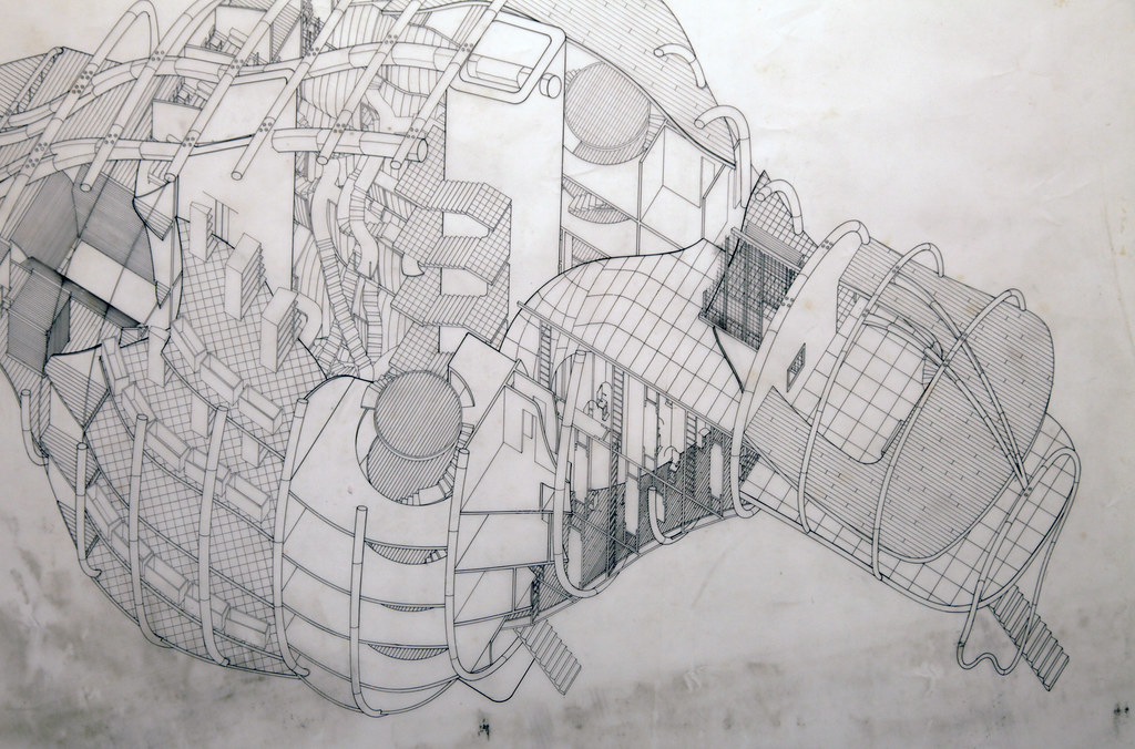 A close up of a drawing from the exhibition.