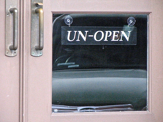 Barbour By David Wood – UN-OPEN sign