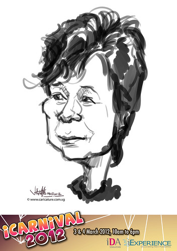 digital live caricature for iCarnival 2012  (IDA) - Day 2 - 24