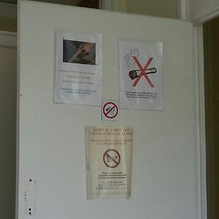 No Smoking ! ( ils aiment vraiment pas ça...)