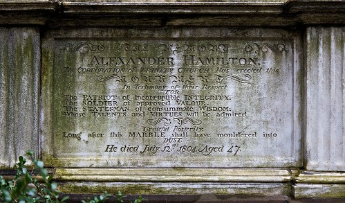 Alexander Hamilton Grave and Tombstone at Trinity Church Cemetary, New York City