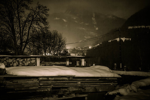 longexposure mountain snow france night valley seytroux