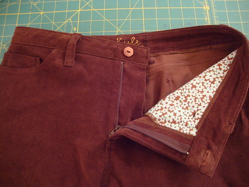 J Stern Designs corduroy jeans done!
