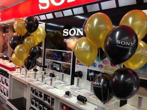 Heliumballonnen bedrukt Sony thema James Bond Mediamarkt Rotterdam