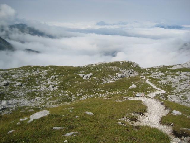 Wolkenmeer – Abstieg von der Sulzfluh zur Lindauer Hütte