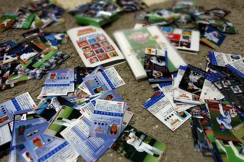 1年10分掃除を続けて未だ処遇に困っているプロ野球カードさん