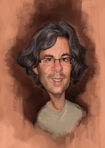 digital caricature of Alon Bar-Shany for Hewlett Packard