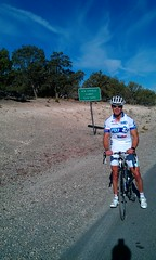 Coach Parker at Summit of Spring Mountain - heading from Las Vegas into Death Valley