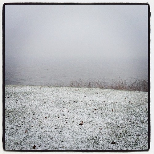 Snow at the lake on Boxing Day Jen Cameron