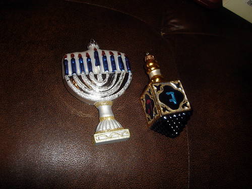 Hanukkah Themed Christmas Ornaments