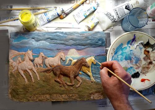 cavalli di irlanda inizio colorazione