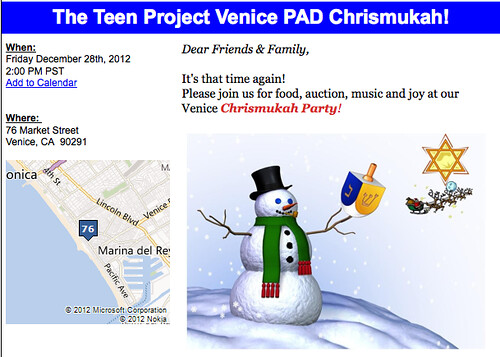 The Teen Project Venice PAD Chrismukah!