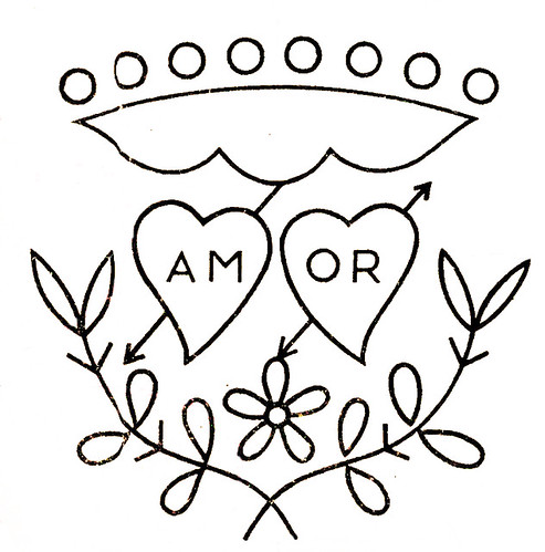 "Amor motivo para bordar - ""Amor"" (love in Portuguese) embroidery pattern"