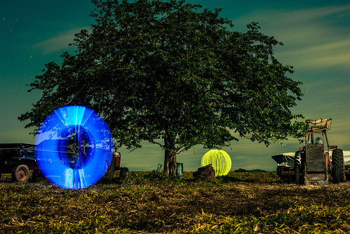 Light Painting Rural