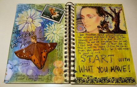 Journal spread  December 2012