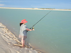 Fishing at Eco Beach, Broome, Western Australia