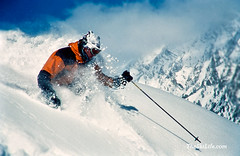 snowboarding(0.0), footwear(0.0), snowboard(0.0), slalom skiing(0.0), ski mountaineering(0.0), ski equipment(1.0), winter sport(1.0), freestyle skiing(1.0), ski cross(1.0), winter(1.0), vehicle(1.0), ski(1.0), skiing(1.0), piste(1.0), sports(1.0), snow(1.0), extreme sport(1.0), downhill(1.0), telemark skiing(1.0),