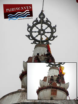 Repairing of Nilachakra Kalas