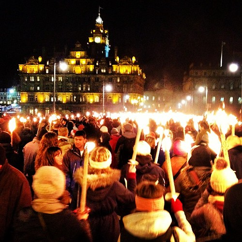 Edinburgh Hogmanay Torchlight Procession