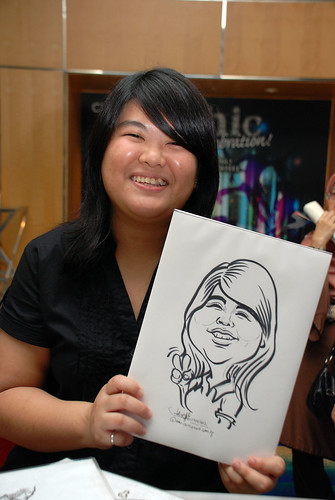 caricature live sketching for Civica Dinner & Dance 2012 - 10