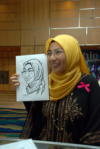 caricature live sketching for Civica Dinner & Dance 2012 - 17