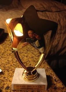 rik's trophy from Santa Swing