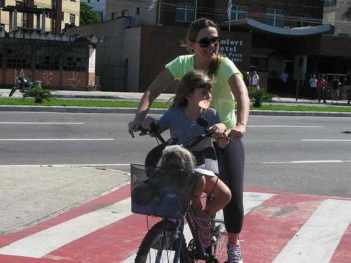 Família na Bicicleta