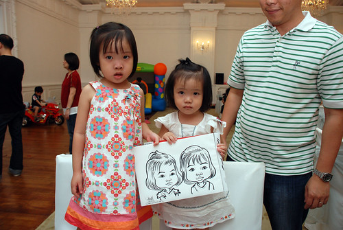 caricature live sketching for birthday party 28042012 - 2