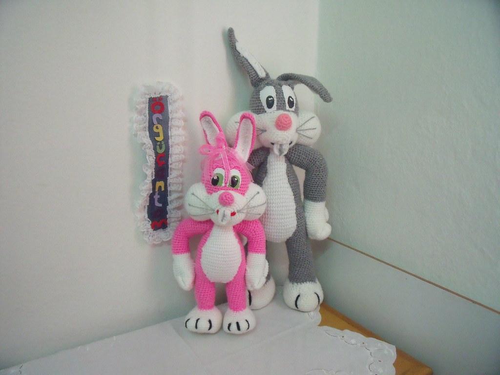 Amigurumi Bugs Bunny Yapilisi : PEMBE BUGS BUNNY 2 (KN?TT TOYS)