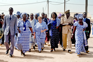 UN Women Executive Director Michelle Bachelet visits a fish processing project in Senegal