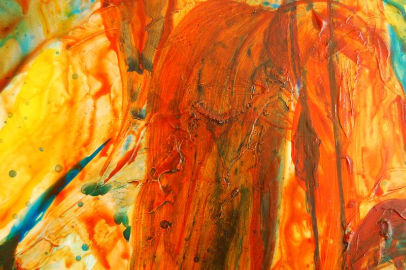 closeup of acrylic painting