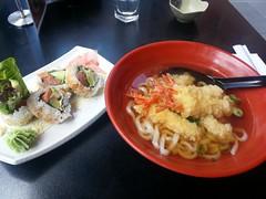 Spicy Salmon Roll AUD6.80, Tempura Udon AUD7.80 lu…