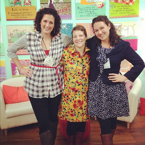 With my (tall) girls @lacylike  and @curlygirl510  in curly girl's showroom. Atlanta market!