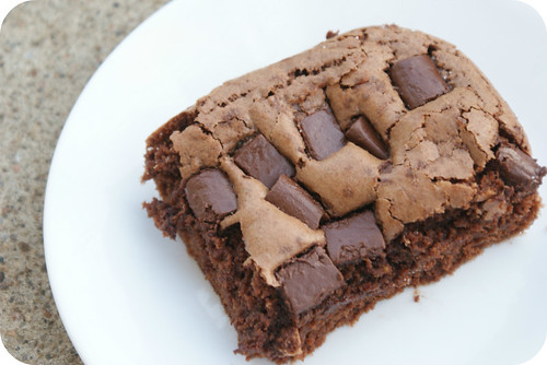 yummy chunky brownies.